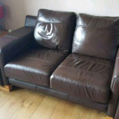 Leather Sofas Glasgow Area Small Comfortable Sofa Used 2 Seater And Pouffe For Sale In Letgo