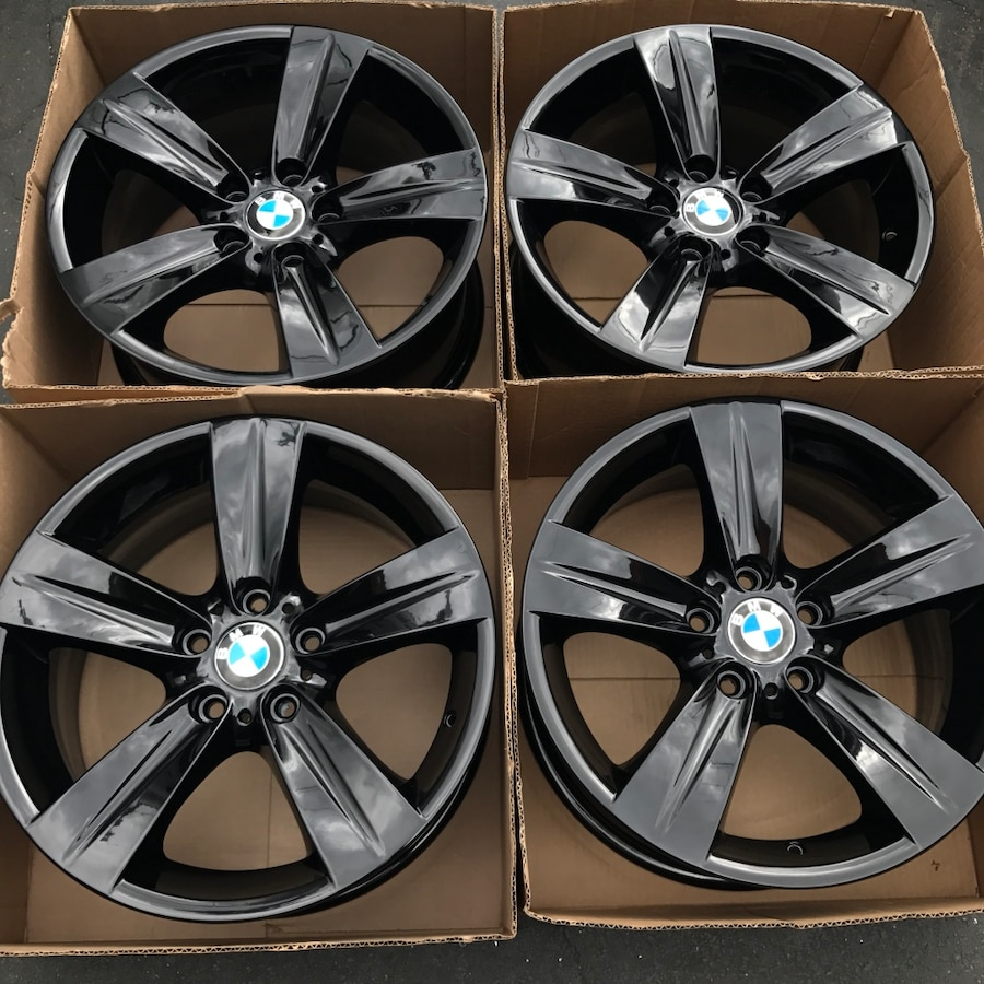 Used 18 Oem Bmw 335i 3 Series Factory Wheels 18 Inch Gloss Black