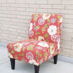 Floral Print Accent Chairs Fishing Chair Argos Used Red For Sale In