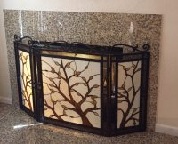Used Tiffany style fireplace screen in San Jose