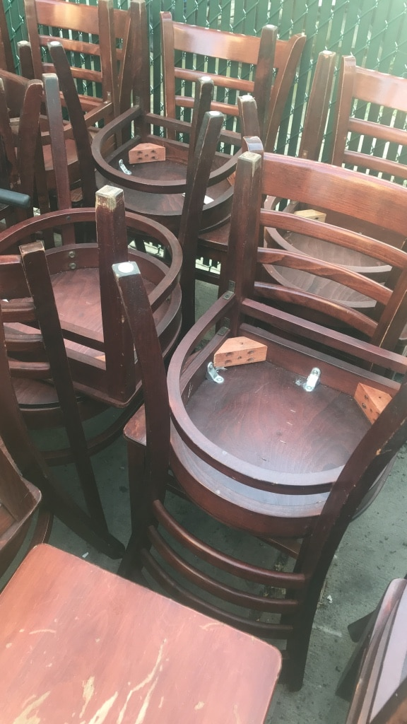 used restaurant chairs moon chair target australia for sale in new york letgo