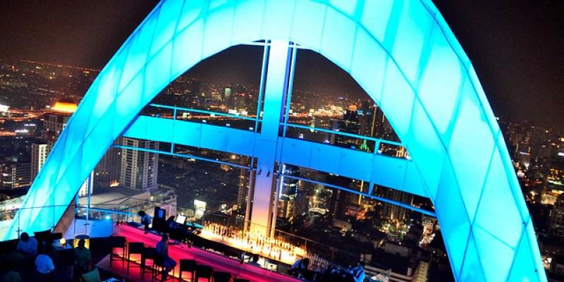 [曼谷]360度的完美夜景~!Red Sky Bar