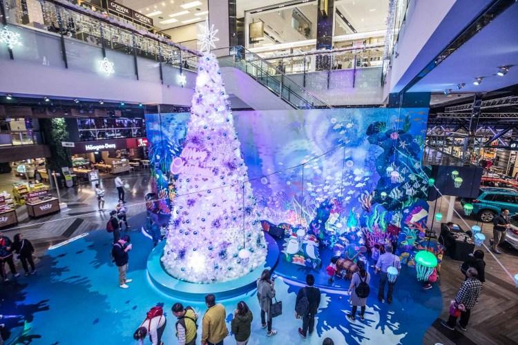 [桃園蘆竹]全台唯一!超夢幻海洋派對主題聖誕樹,尋找海洋耶誕派對!台茂購物中心