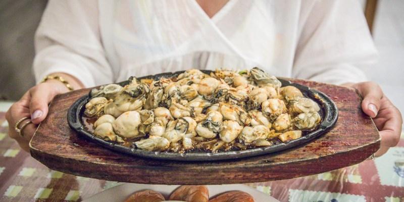 [屏東美食]田中漁夫/這盤滿到跟山一樣的鐵板鮮蚵只要250元!太ㄅ一ㄤˋ了吧