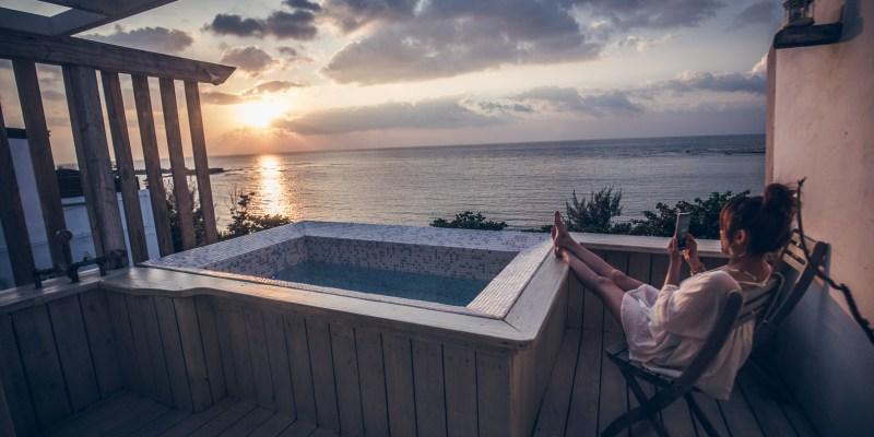 [屏東住宿]這間海景房絕對美到哭,180度全景戶外浴池,進房都捨不得出門了!後灣36-HomeOne36