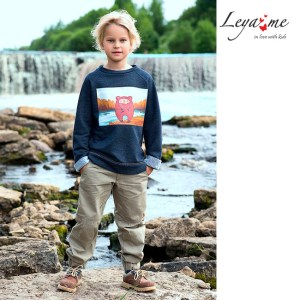 """Cвитшот детский с принтом """"Мишка Тео на озере"""" для мальчика"""