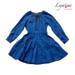 Платье-туника ярко-синяя на девочку