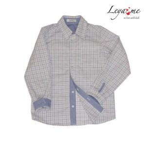 Рубашка на мальчика в клетку комбинированная