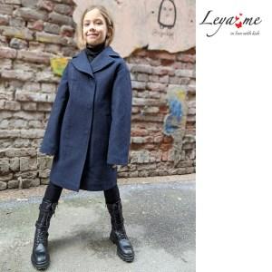 Пальто детское темно-синее на девочку
