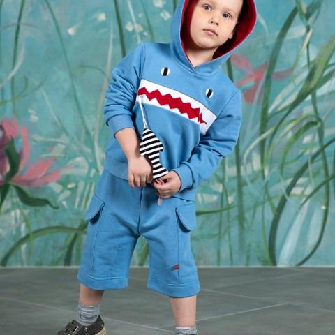 Голубые детские шорты для мальчика