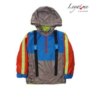 Детская куртка-анорак с неоновыми деталями