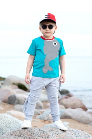 Детские брюки на мальчика, с плавниками