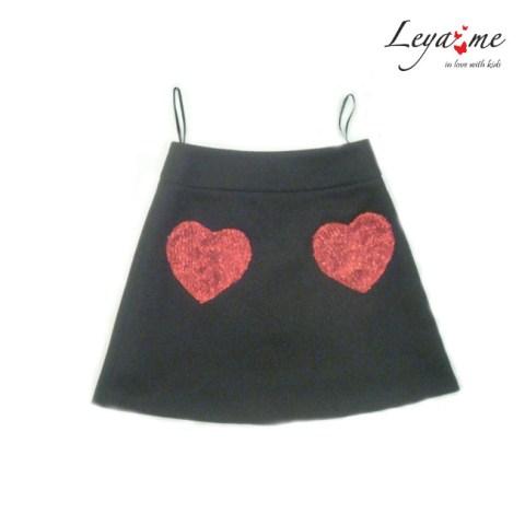 Юбка-трапеция с карманами-сердцами