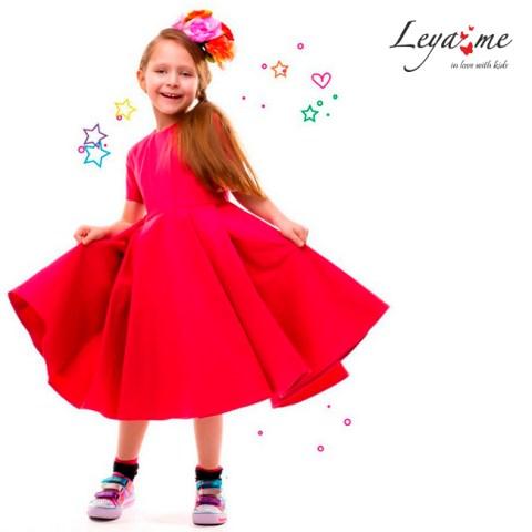 Платье - фуксия с пышной юбкой