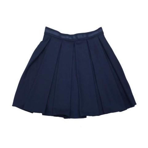 Юбка школьная со складками синяя на девочку