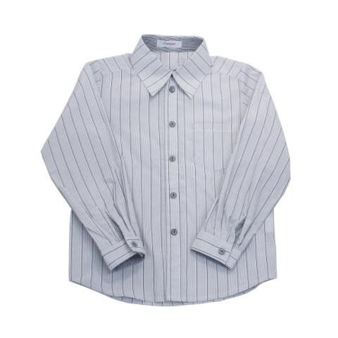 Рубашка школьная на мальчика в полоску с карманом
