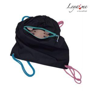 Рюкзак-мешок детский с медведем в кармане для девочек
