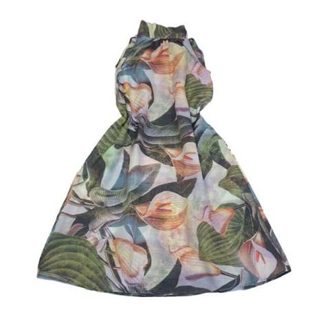 Платье-туника детское с крупными цветами