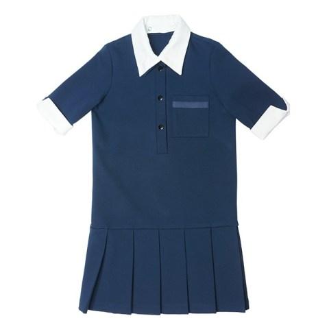 Платье школьное с застежкой поло