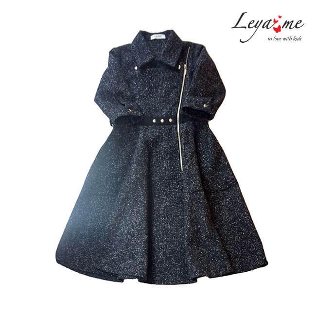 Детское платье-косуха с асимметричной застежкой