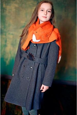 Шарф оранжевый детский в виде лисички