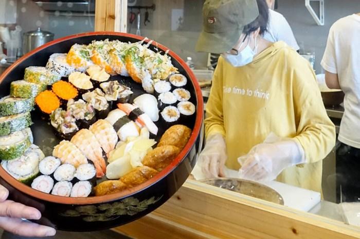 【臺南美食】大份量壽司桶在這裡 個人版壽司.便當 現點現做 提供外送及外帶~福島壽司研究室