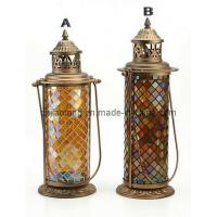 Mosaic Glass Hurricane Lamp (SCM065)
