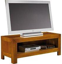 meuble de television en merisier