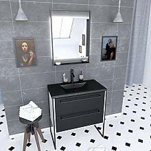 meuble vasque retro salle de bain