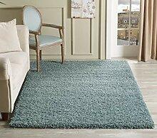tapis shaggy bleu comparer les prix