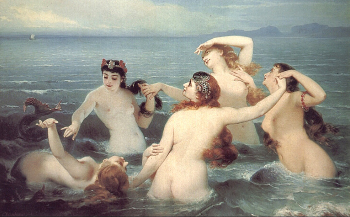 Charles Edouard Boutibonne    Mermaids Frolicking in the Sea!.jpg (699x435, 169Kb)