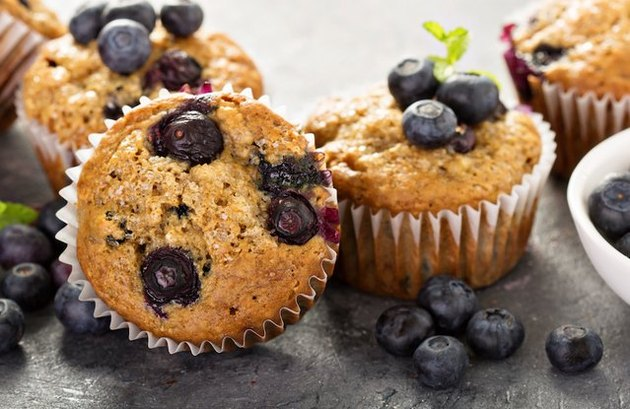 Blueberry-Banana Protein Muffins blueberry breakfast recipes