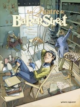 Couverture Les Quatre de Baker Street, tome 5 : La succession Moriarty de Jean-Blaise Djian, Olivier Legrand et David Etien