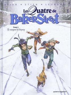 Couverture « Les Quatre de Baker Street, tome 3 : Le rossignol de Stepney » de Jean-Blaise Djian, Olivier Legrand et David Etien
