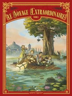Couverture Le voyage extraordinaire, cycle 1 : Le trophée Jules Verne, tome 1 de Denis-Pierre Filippi et Silvio Camboni