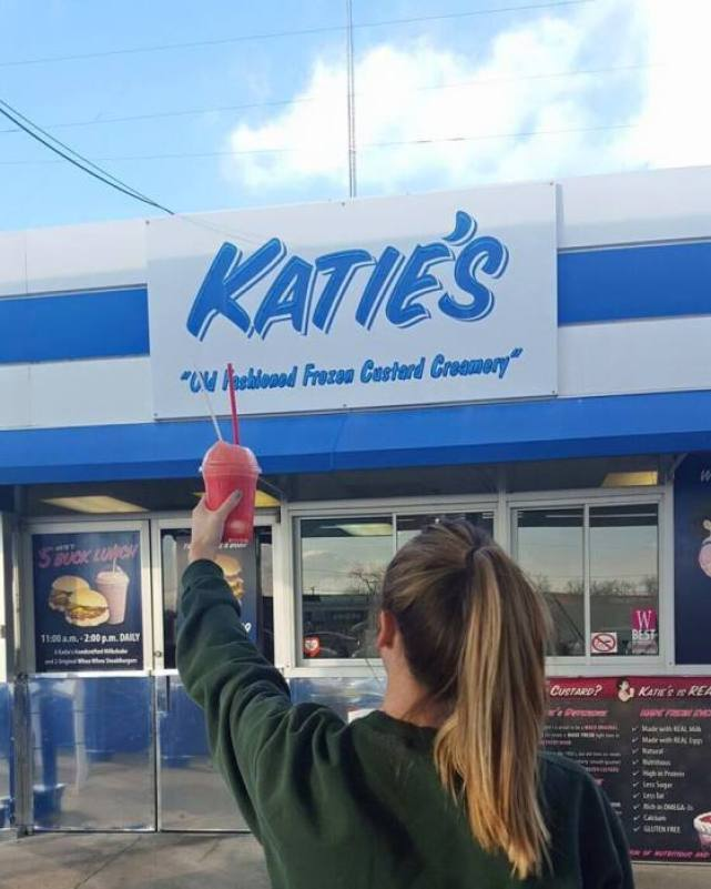 Katie's Frozen Custard In Waco Texas is delicious!