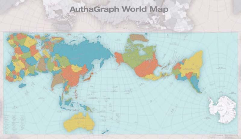 メルカトル図法の問題点を解決 地球をより正確に一望する新しい世界地図「オーサグラフ」とは