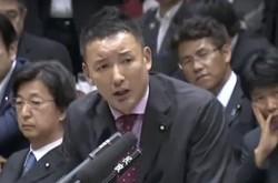 山本太郎氏、安保法案の強行採決に抗議