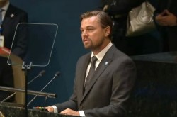 ディカプリオ「私たちは歴史を変えられる」国際平和デー式典で環境問題の深刻さを訴える