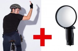 自転車通勤がもっと安全に ハンドルの先っぽに装着する小型ミラーがスゴイ