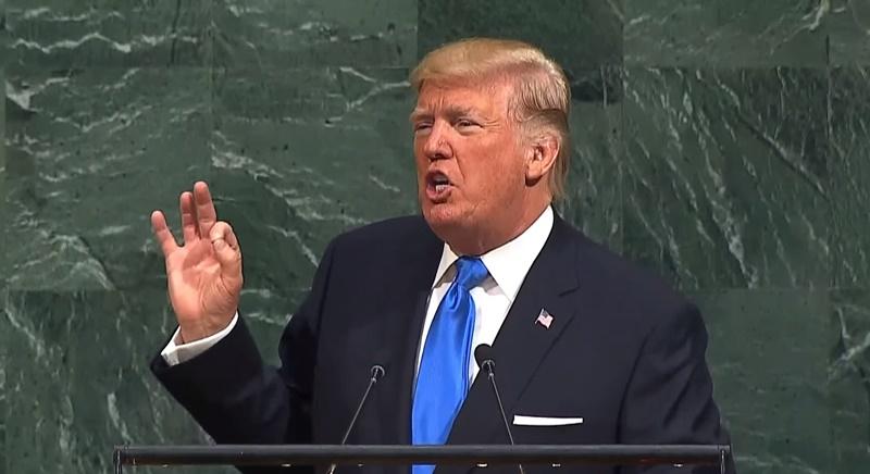 """トランプ大統領「北朝鮮を完全に破壊する以外に選択肢はない」 """"ならずもの政権""""を国連演説で糾弾"""