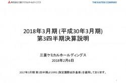 三菱ケミカルHD、3Q累計純利益は前年比372億円増 MMAモノマーの需要が堅調に推移