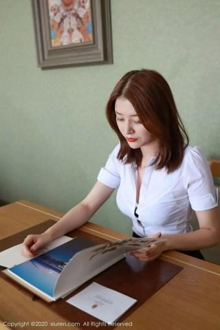秀人网美女模特樱花EIsa白衬衫黑短裙职场OL制服系列写真   Page 2/3