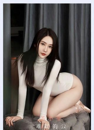 爱尤物美女模特苏小曼白色高叉连体衣+浑圆翘臀性感写真 | Page 1/2