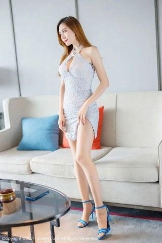 秀人网美女模特蜜桃cc高跟鞋蕾丝短裙丝袜美腿系列撩人写真   Page 2/4