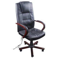 Office Chair With Massage Baby Shower Decoration Ideas Black Torino Wood