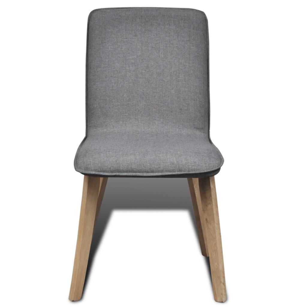 Dark Grey Dining Chairs Set Of 4 Dark Gray Fabric Oak Dining Chair Indoor