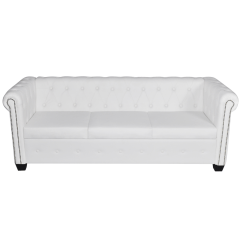 Chesterfield Sofa Leather White Sofas Under 200 Cm Artificial 3 Seater