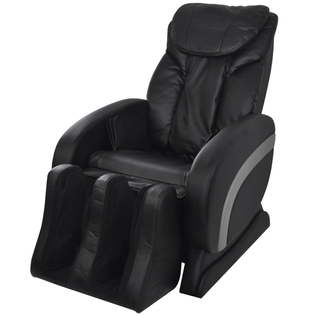 electric reclining chairs nz french louis xv style armchair black artificial leather recliner massage chair