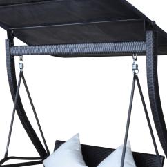 Rattan Swing Chair Nz Rising Sun Black Rocking With Pendant Roof
